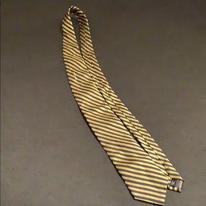 Nautica Gold & Navy Stripe Neck Tie